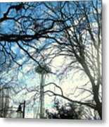 Approaching The Space Needle  Metal Print