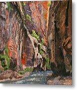 Apricot Canyon 2 Metal Print
