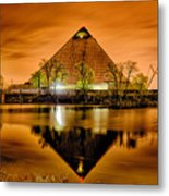 April 2015 - The Pyramid Sports Arena In Memphis Tennessee Metal Print