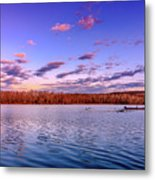 April Evening At The Lake Metal Print