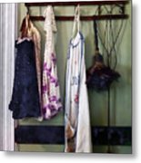 Aprons And Feather Duster Metal Print