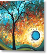 Aqua Burn By Madart Metal Print by Megan Duncanson