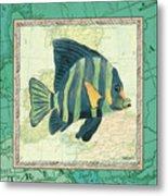 Aqua Maritime Fish Metal Print