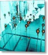 Aqua Reflections Metal Print