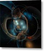 Aqua Wormholes Metal Print