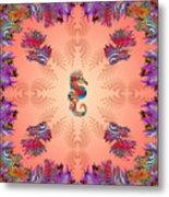 Aquarium Rising Pinks Metal Print