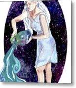 Aquarius Water Bearer Metal Print