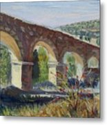 Aqueduct Near Pedraza Metal Print