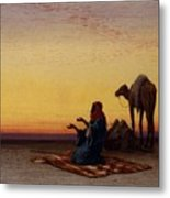 Arab At Prayer Metal Print