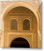 Arabesque Ornamental Designs At The Casa Real In The Nasrid Palaces At The Alhambra Metal Print