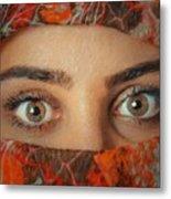 Arabian Beauty Metal Print