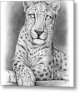Arabian Leopard Metal Print