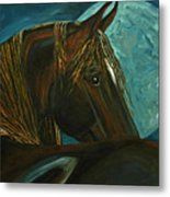 Arabian Moon Metal Print