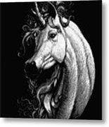 Arabian Unicorn Metal Print
