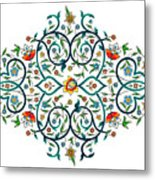 Arabic Floral Ornament Metal Print
