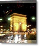 Arc De Triomphe By Bus Tour Greeting Card Poster V2 Metal Print