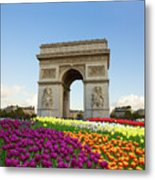 Arc De Triomphe In Paris Metal Print