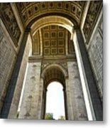 Arc De Triomphe Paris Metal Print
