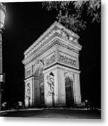 Arc De Triomphe Paris, France  Metal Print