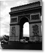 Arc De Triomphe Sunset Paris, France Metal Print