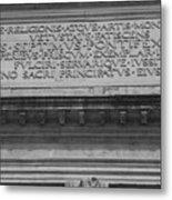 Arc Text Metal Print