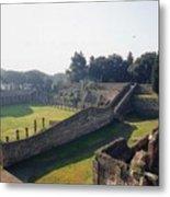 Arcaded Court Of The Gladiators Pompeii Metal Print
