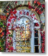Arch And Red Vines Metal Print