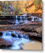 Arch Angel Waterfalls In Zion Metal Print
