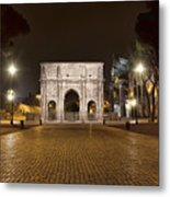 Arch At Night Metal Print