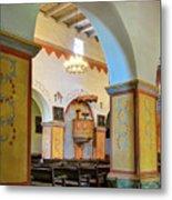 Arch In San Juan Bautista Mission Metal Print