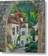 Arch Of Saint-cirq-lapopie Metal Print