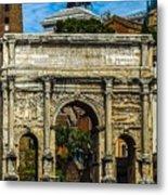 Arch Of Septimius Severus Metal Print