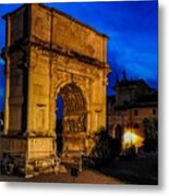 Arch Of Titus In Rome Metal Print