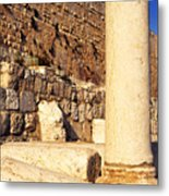 Archaeological Garden Southern Temple Mount Metal Print
