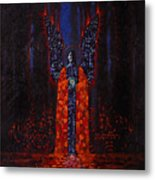 Archangel Evokes Through Nights Womb Metal Print