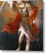 Archangel Michael Hurls The Devil Into The Abyss Metal Print