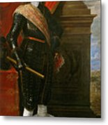 Archduke Leopold Wilhelm With The Siege Of Gravelingen Metal Print
