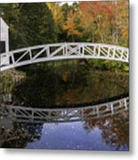 Arched Bridge-somesville Maine Metal Print by Thomas Schoeller