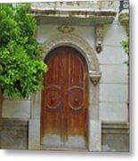 Arched Door Cadiz Metal Print