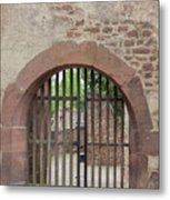 Arched Gate At Heidelberg Castle Metal Print