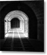 Arched Hallway In Palma Metal Print