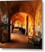 Arched Spanish Hall Metal Print