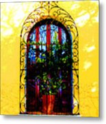 Arched Window By Darian Day Metal Print