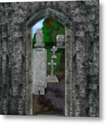 Arches And Cross In Ireland Metal Print