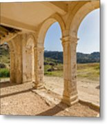 Arches And Stairs Of Derelict Agios Georgios Church Metal Print