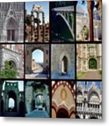 Arches Collage Metal Print