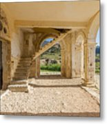 Arches, Entrance And Stairs Of Derelict Agios Georgios Church Metal Print