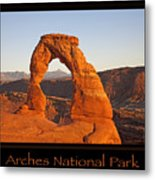 Arches National Park Poster Metal Print
