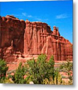 Arches National Park, Utah Usa - Tower Of Babel, Courthouse Tower Metal Print
