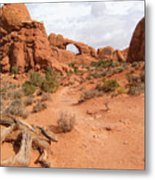 Arches With Wood Metal Print